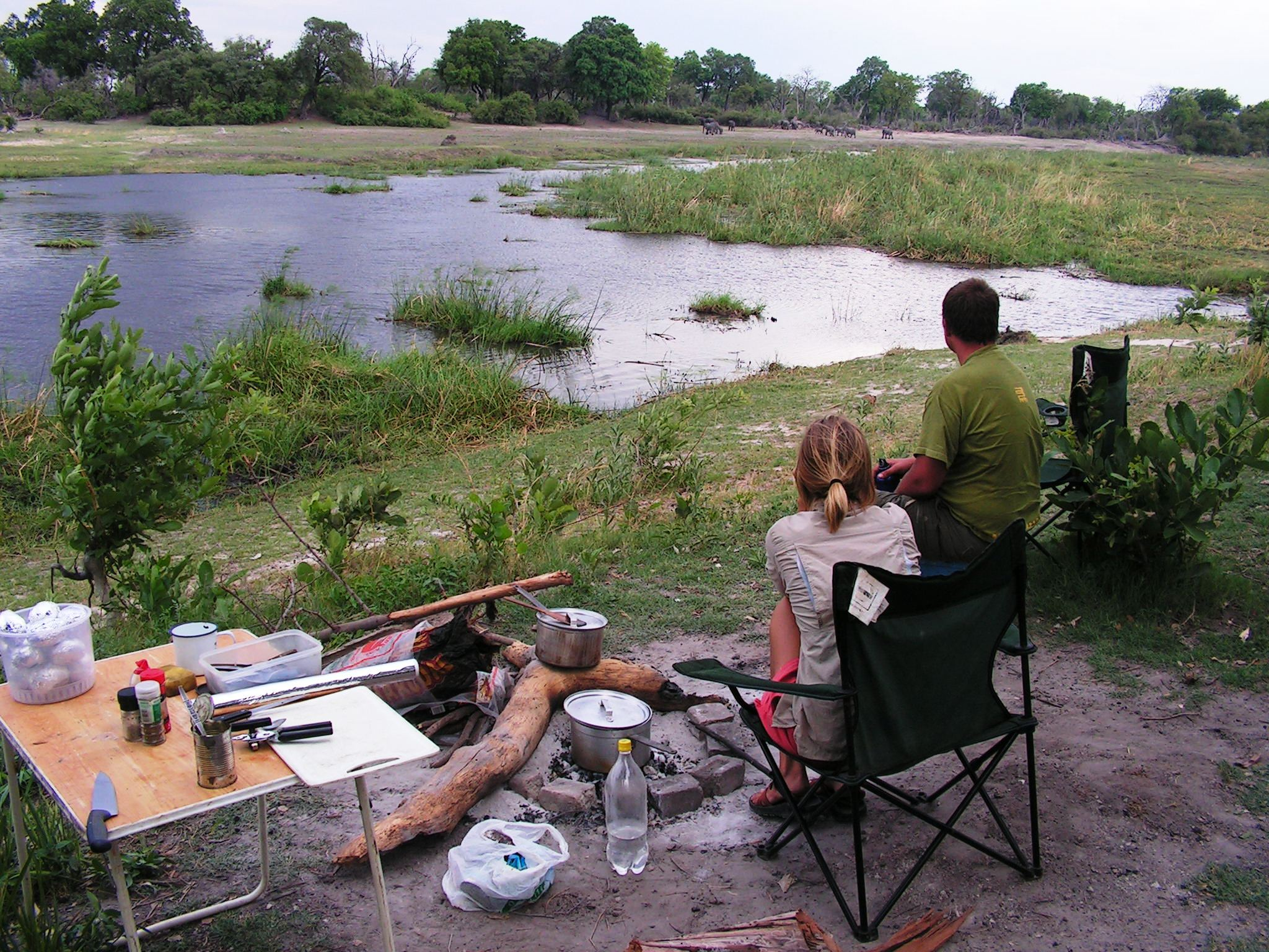 Firing away on the Caprivi on Educational, Botswana and Zambia 36