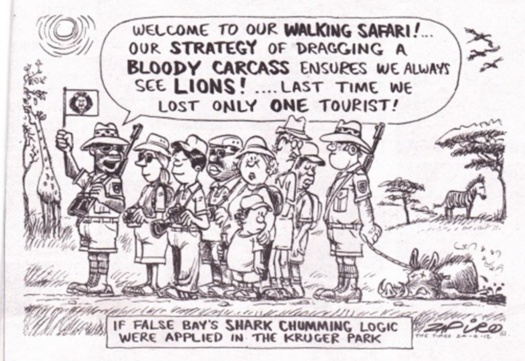 If False Bay's SHARK CHUMMING Logic was applied in the Kruger Park!
