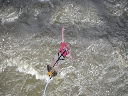 Bungee jumping at the Victoria Falls