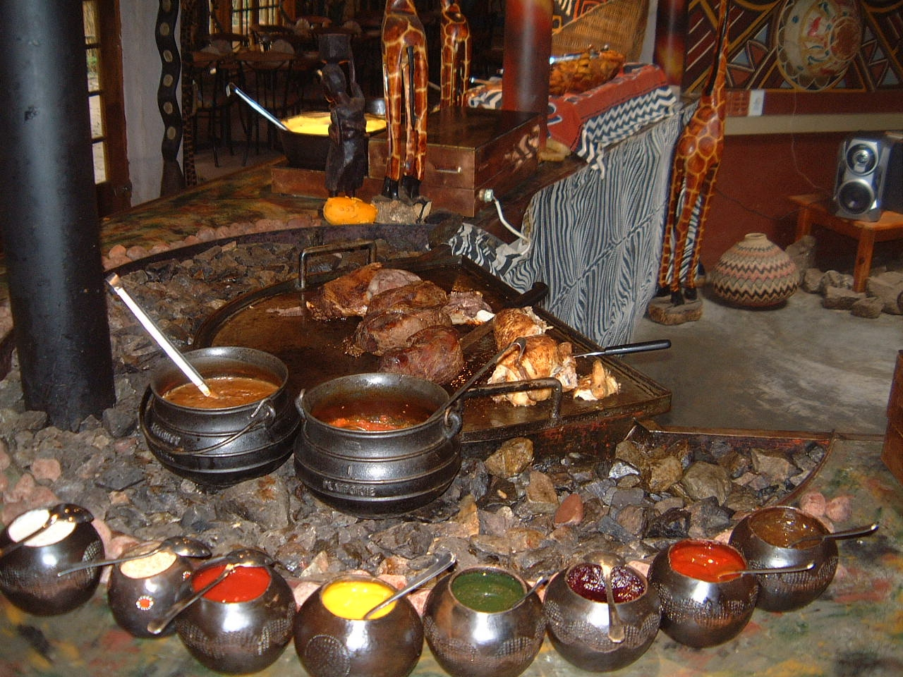 Half day lesedi cultural village tour jenman african safaris for African cuisine dishes