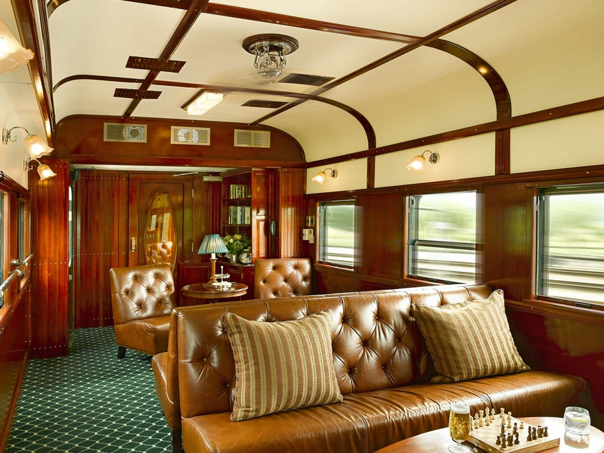 lounge in Rovos Rail
