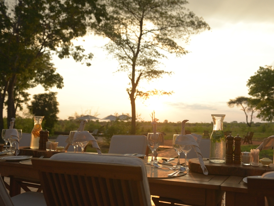Dining in the African bush