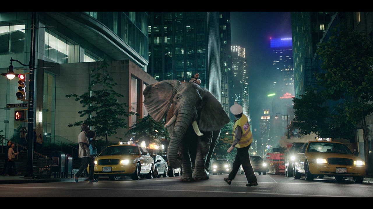 Elephant in the city  - Sourced from MPC Advertising
