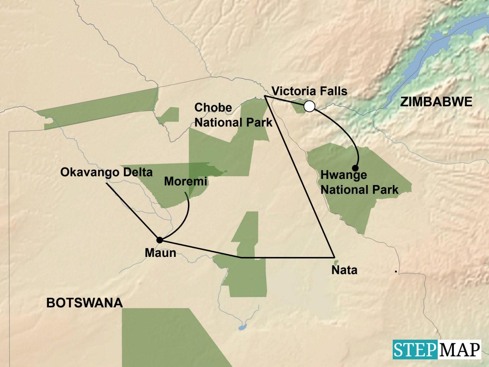 StepMap-Map-Botswana-Wildlife-Breakaway