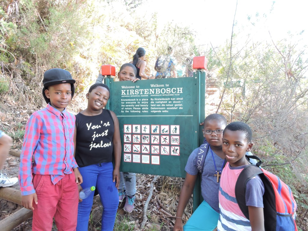 Entering Kirstenbosch Gardens