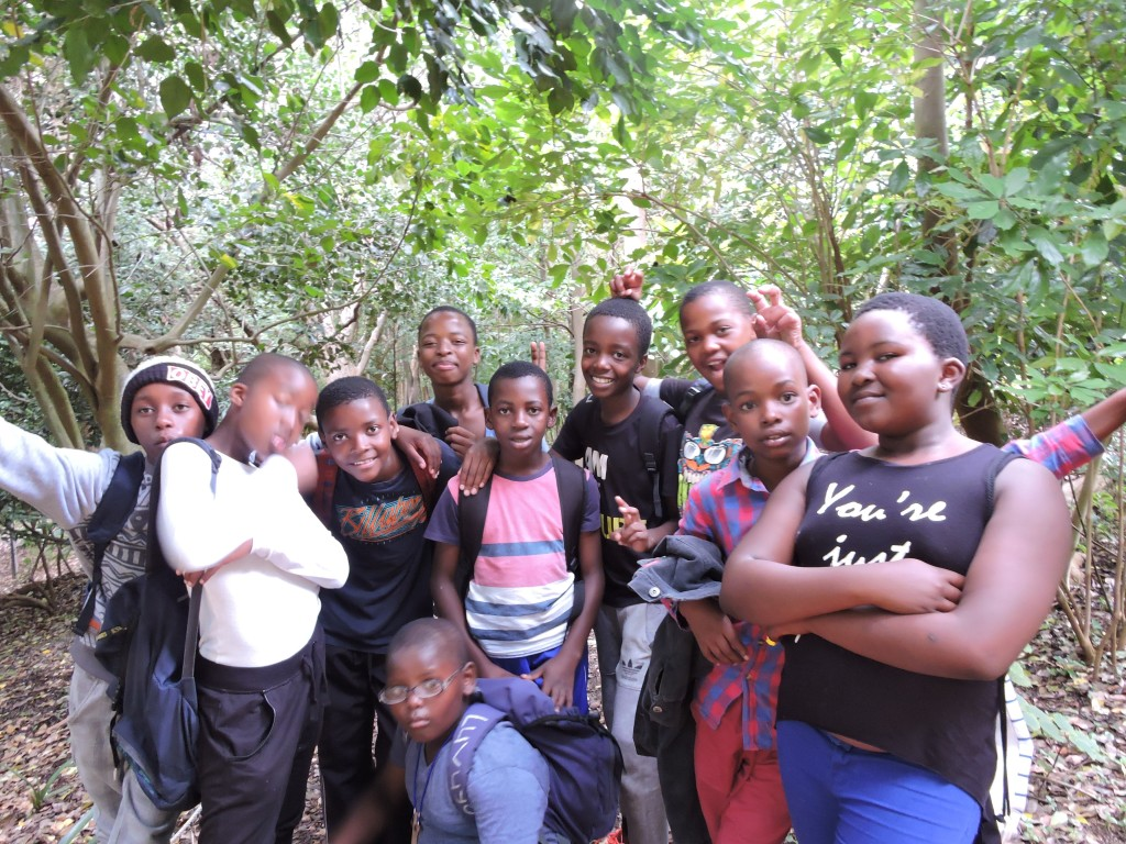 The children in Kirstenbosch Gardens