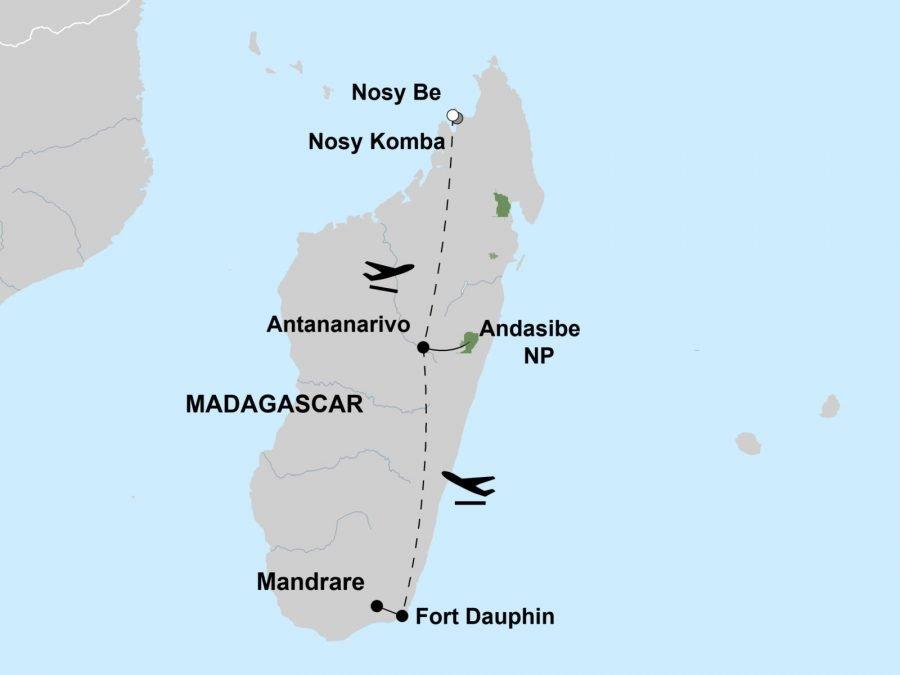 Beach and Lemur Explorer - Map