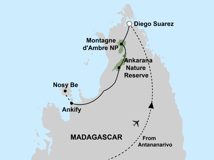 Madagascar Northern Adventure Map