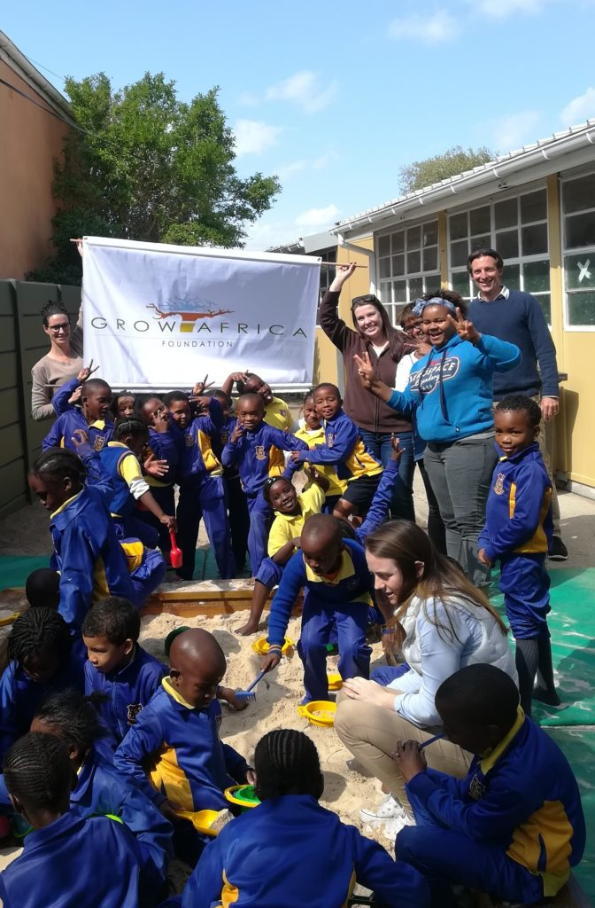 Unveiling the Sandpit and Delivering Painted Tyres to Rosmead Primary School