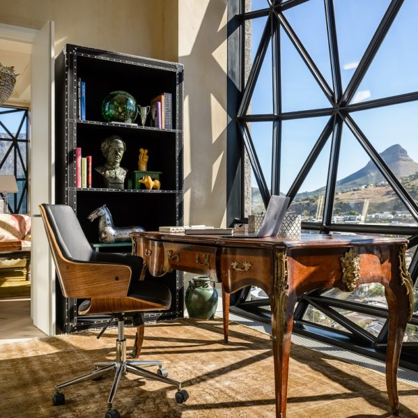 The Penthouse private study, Silo Hotel, V&A Waterfront, Cape Town