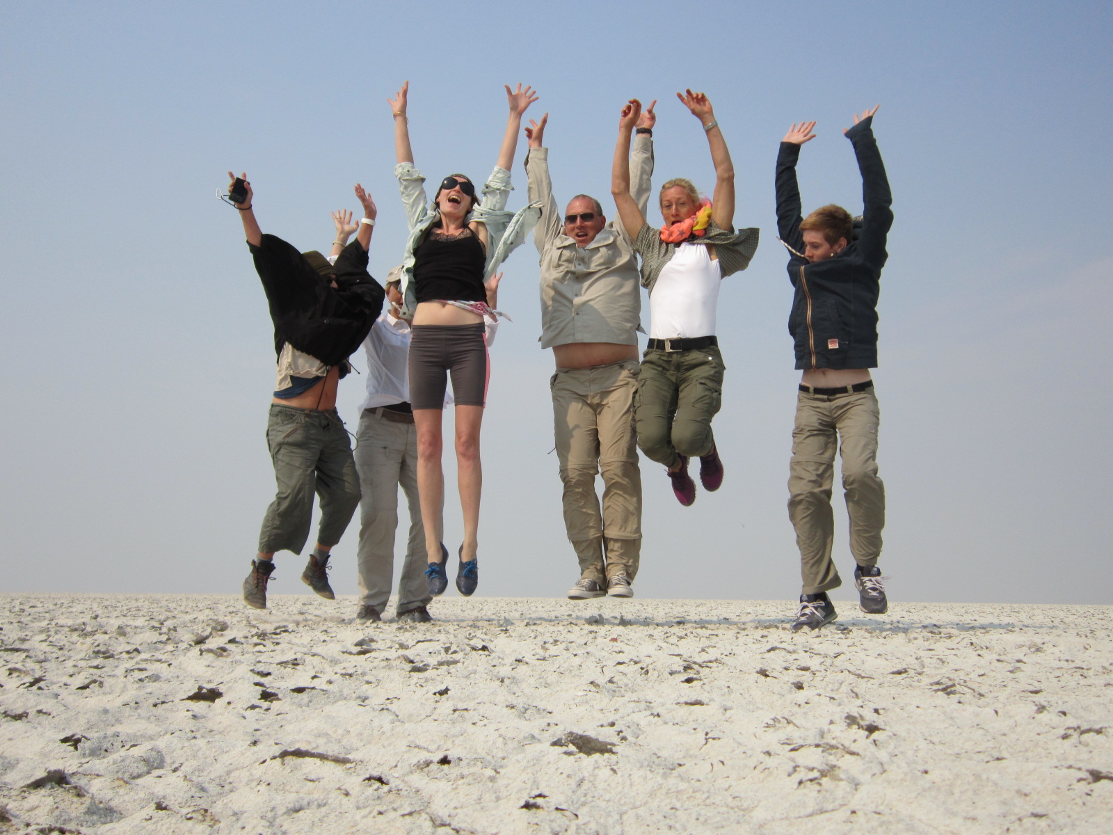 Martina Schacke and tour group on the Trans Kalahari Lodge Explorer